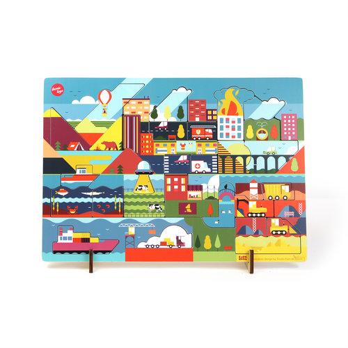 IKONIC Kars+Boom puzzel Dag