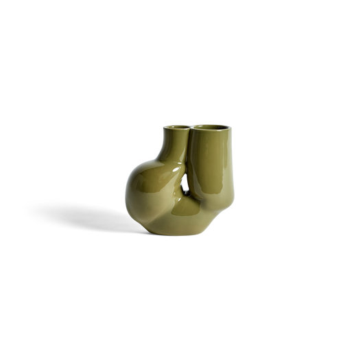 HAY Chubby vase olive green
