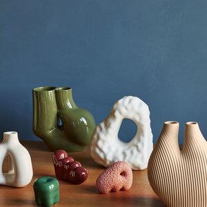 HAY HAY vase Chubby olive green