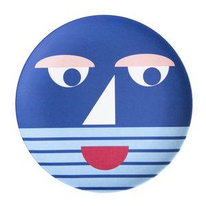 Global Affairs Global Affairs Bamboo plate  Face Blue