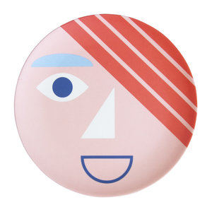 Global Affairs Bamboo plate Face Blue