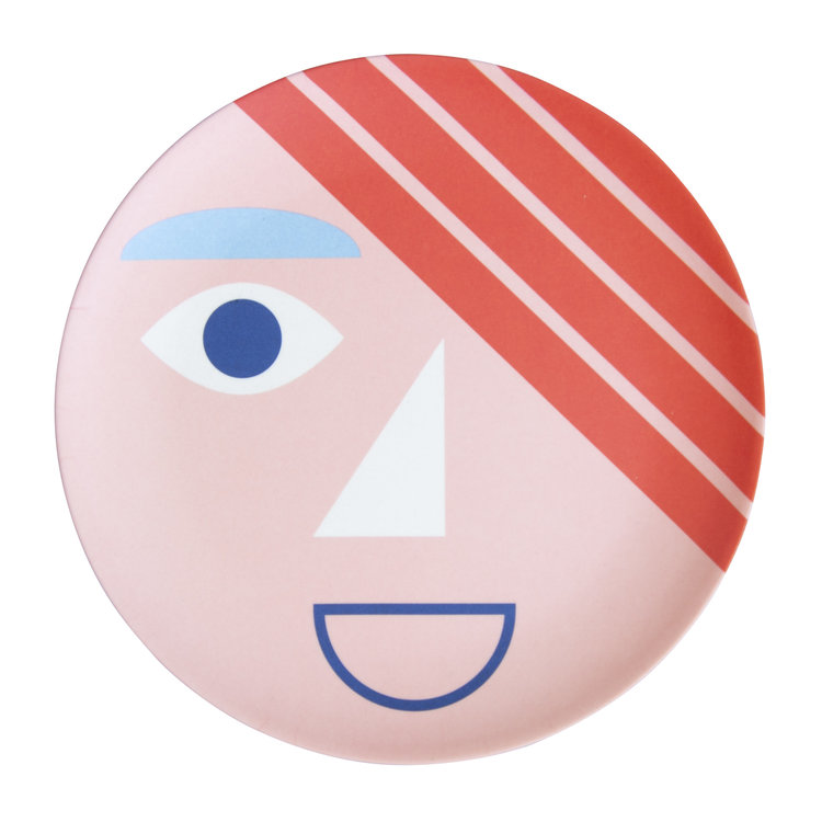 Global Affairs Global affairs  bamboo plate Face Coral