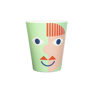Global Affairs Bamboo cup  Face Green