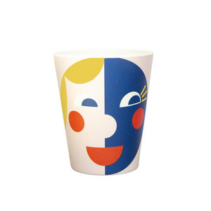 Global Affairs Bamboo cup  Face Yellow