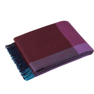 Vitra Deken Colour Block blauw bordeaux