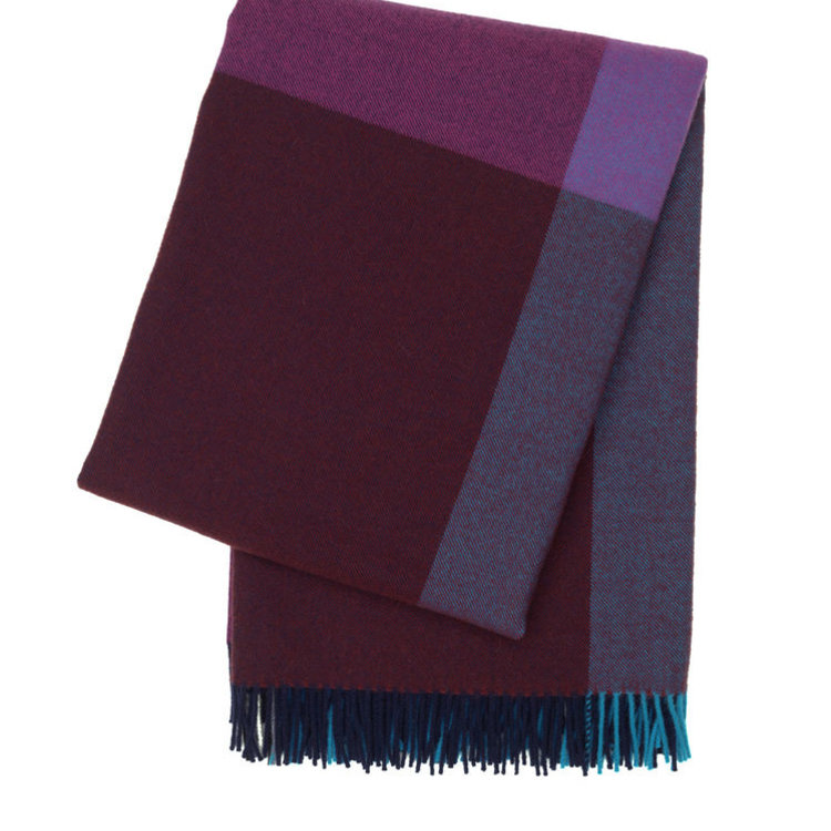 Vitra Vitra Colour Block Blanket blue bordeaux