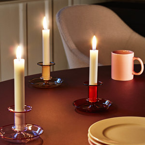 HAY HAY candleholder Flare low pink