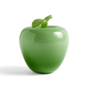 HAY Glass decoration apple green