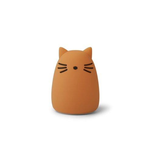 Liewood Nachtlamp Winston kat mosterd
