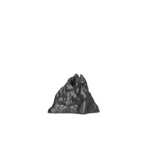 ferm LIVING Kandelaar Stone groot zwart