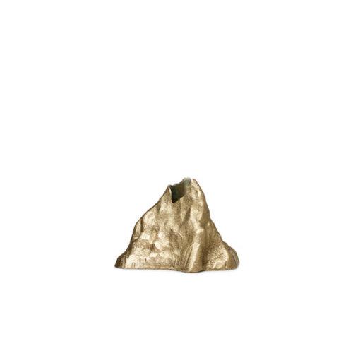 ferm LIVING Kandelaar Stone groot messing