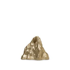 ferm LIVING Kandelaar Stone klein messing