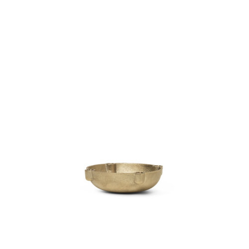 ferm LIVING Bowl kandelaar messing