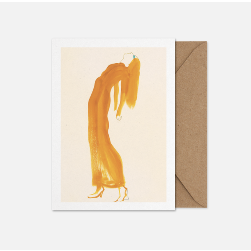 Paper Collective Art card The Saffron Dress