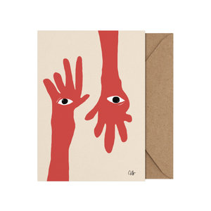 Paper Collective Art card Hamsa Hands