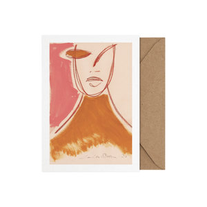 Paper Collective Art card Pink Portrait