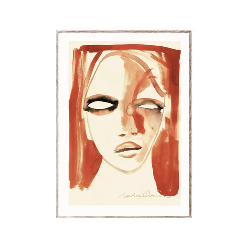 Paper Collective Print Red Portrait 50x70