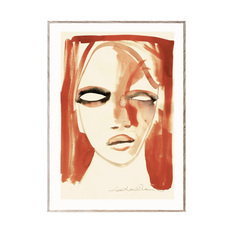 Paper Collective Paper collective C print Red Portrait 50x70