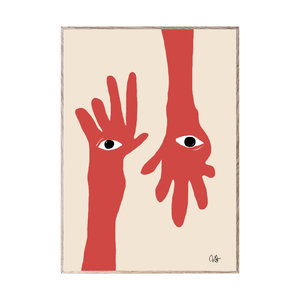 Paper Collective Print Hamsa Hands 30x40