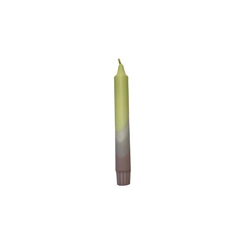 Kaars NO15 geel / lila