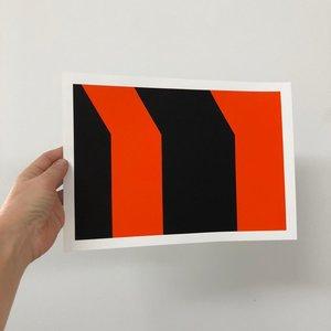Groen+Akker Zeefdruk rood-zwart 21x30 cm