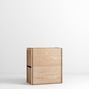 Moebe Moebe Storage Box oak black