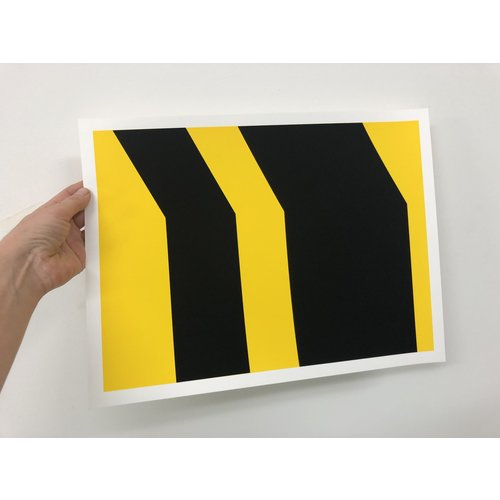Groen+Akker Zeefdruk geel-zwart 30x40 cm