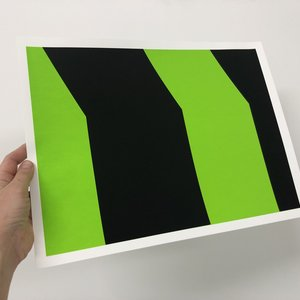 Groen+Akker Zeefdruk groen-zwart 30x40 cm