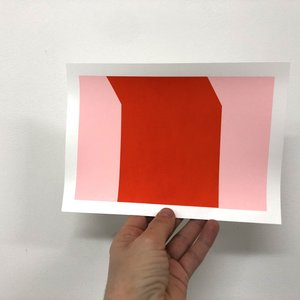 Groen+Akker Silkscreen pink-red 15x21 cm