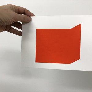 Groen+Akker Zeefdruk rood 15x21 cm