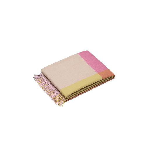 Vitra Deken Colour Block roze beige