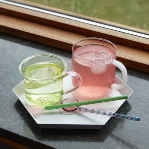 HAY HAY set 2 glazen lepels Round