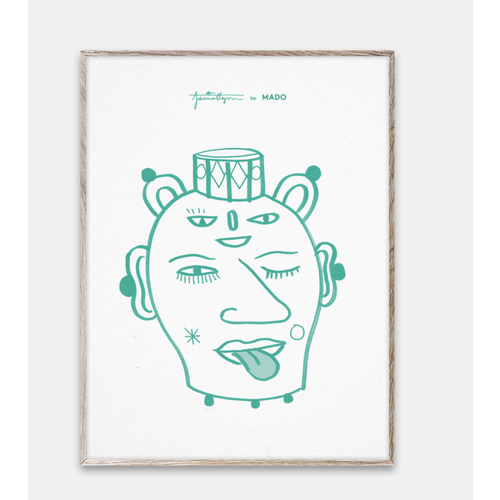 Paper Collective Print Head Vase Lu 30x40