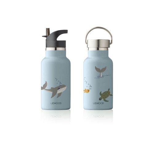 Liewood Water Bottle  Anker sea creatures blue