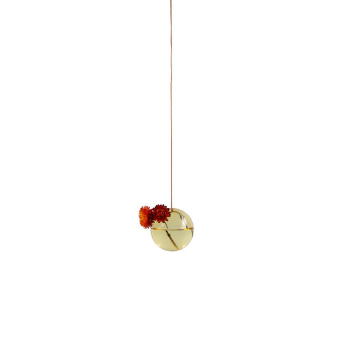 Studio About Vaas Flower Bubble hang klein geel