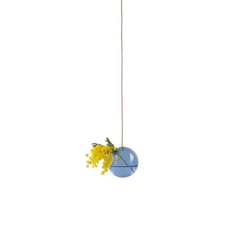 Studio About Vaas Flower Bubble hang klein blauw