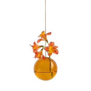 Studio About Vaas Flower Bubble hang groot amber
