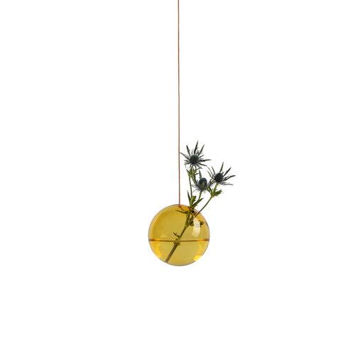 Studio About Vaas Flower Bubble hang groot geel