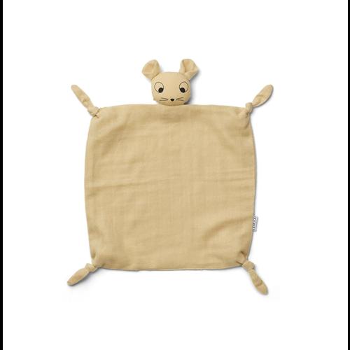 Liewood Knuffel doek Agnete muis geel