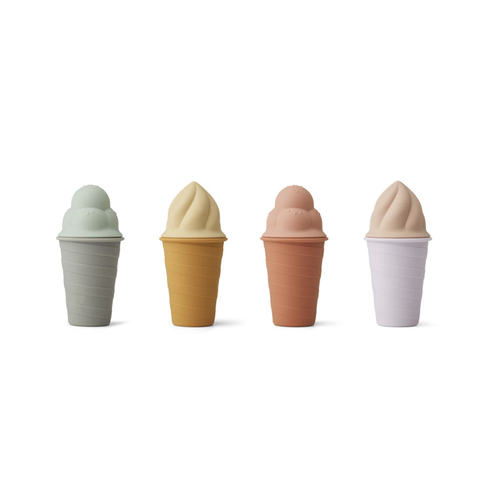 Liewood Bay ice cream toy 4-pack - Light lavender multi mix