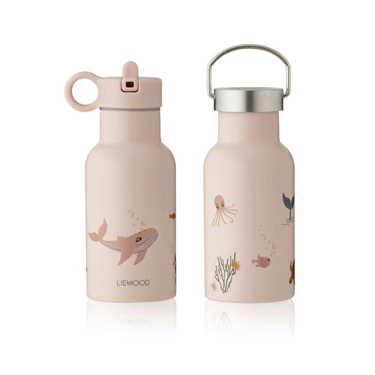 Liewood Liewood water bottle Anker sea creatures pink