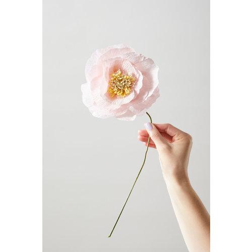 Studio About About papier bloem Ice Poppy rose