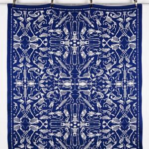Textielmuseum Studio Job throw Perished blue