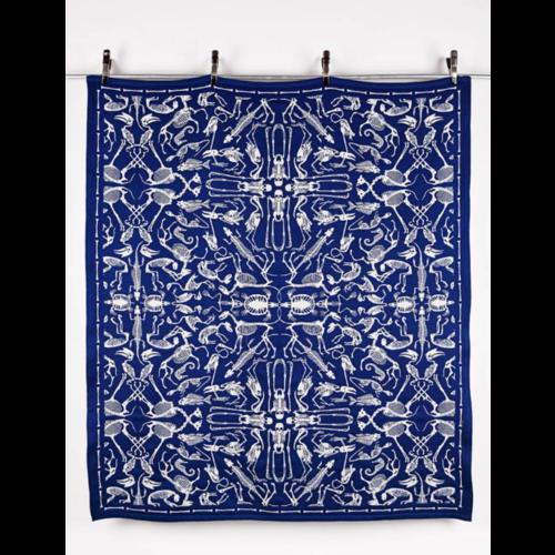 Textielmuseum Studio Job plaid Perished blauw
