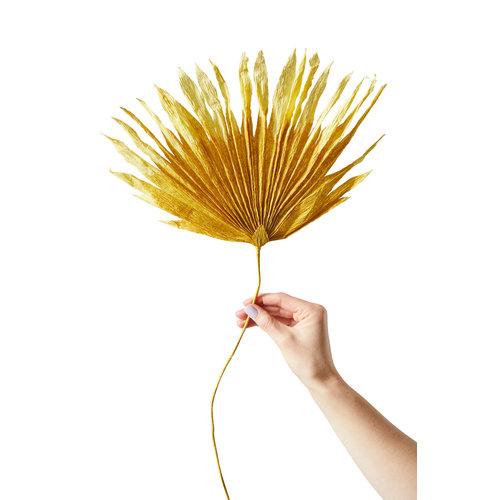 Studio About Papieren bloem Palm oker