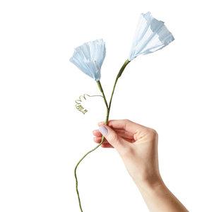 Studio About Papieren bloem Morning Glory blauw