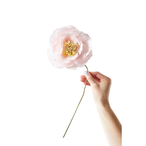 Studio About Papieren bloem Ice Poppy roze