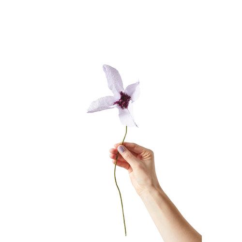 Studio About Papieren bloem Clematis lila