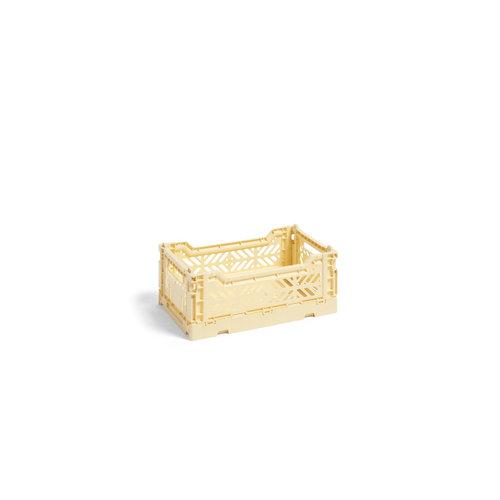 HAY Krat Colour Crate S lichtgeel