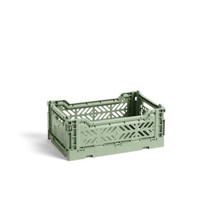 HAY Krat Colour Crate S dusty green